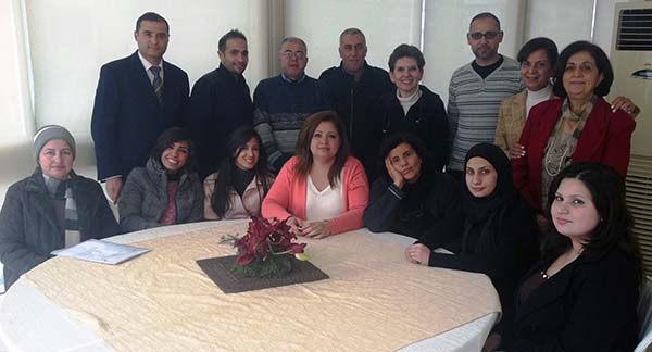 Magda Abu-Fadil with Tripoli journalists