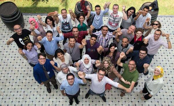 Rabat boot camp trainers and participants