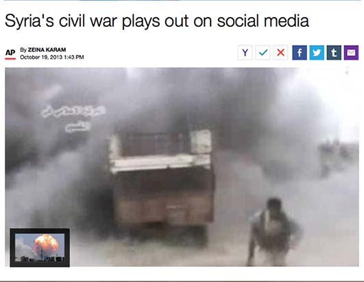 Syria's civil war plays out on social media: AP
