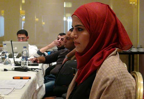 Amman trainees present their work for evaluation