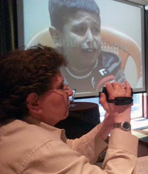 Magda Abu-Fadil shoots training session video