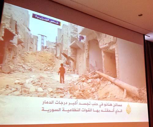 Syrian journalist's report appears on Aljazeera