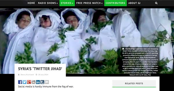 "Screen shot of Syria's ""Twitter Jihad"""