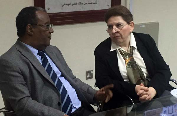 QU's Mass Communications Director Dr. Mahmoud Galandar with Abu-Fadil