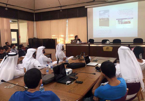 Social media and online journalism workshop at QU