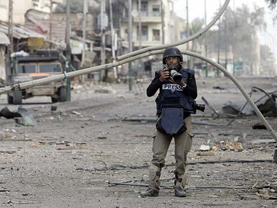 International photojournalist Patrick Baz in Fallujah, Iraq
