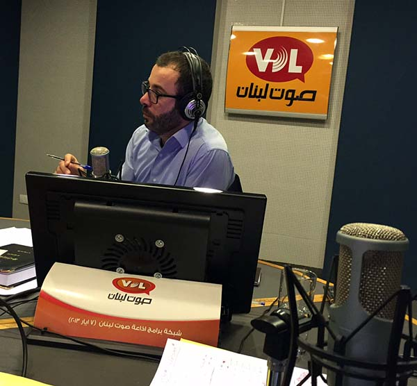VDL talk show host Khaldoun Zeineddine