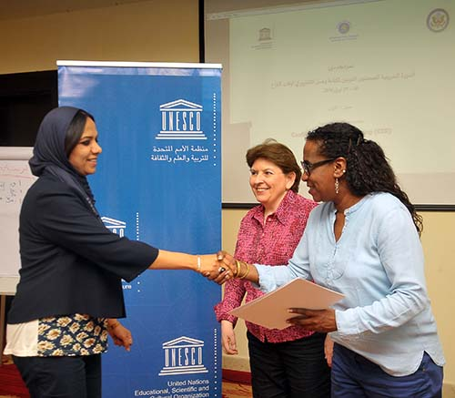 Amal Alwerfali receives workshop certificate