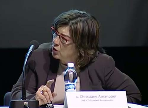 "CNN's Christiane Amanpour chairs plenary on ""Protecting Your Rights - Surveillance Overreach, Data Protection, and Online Censorship"""